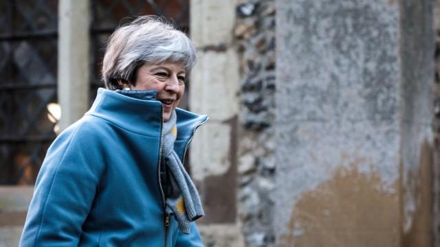 Theresa May At Church Amid Brexit Chaos