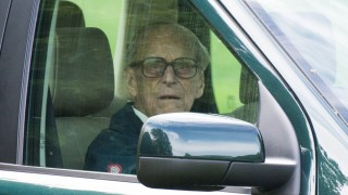 Royal Windsor Horse Show Prince Philip Duke of Edinburgh arrives in his Land Rover to attend the Ro