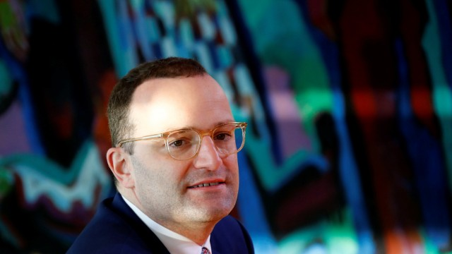 German Health Minister Jens Spahn attends the weekly cabinet meeting in Berlin