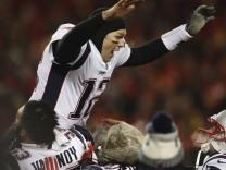 NFL - Tom Brady von den New England Patriots feiert den Einzug in den Super Bowl 2019