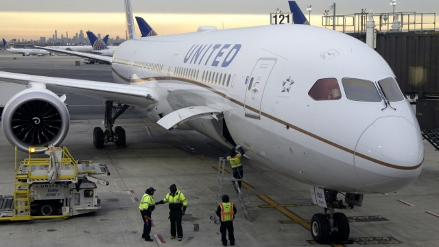 United Airlines Bei minus 30 Grad