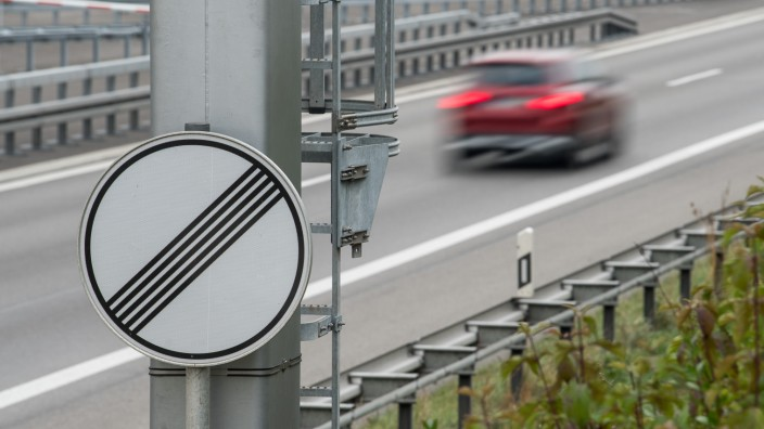 Verkehr auf der A81; Kein Tempolimit