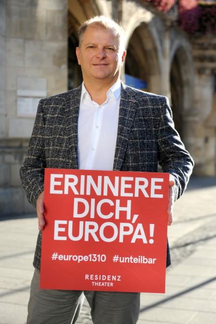 Martin Kusej mit Wahlaufruf zur bayerischen Landtagswahl, 2018