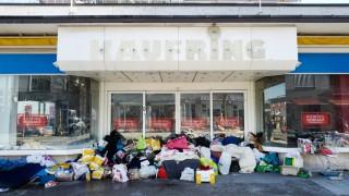 Obdachlosen-Lager vor dem Kaufring in Pasing