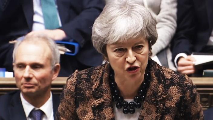 Britische Premierministerin May stellt Plan B fuer Brexit vor