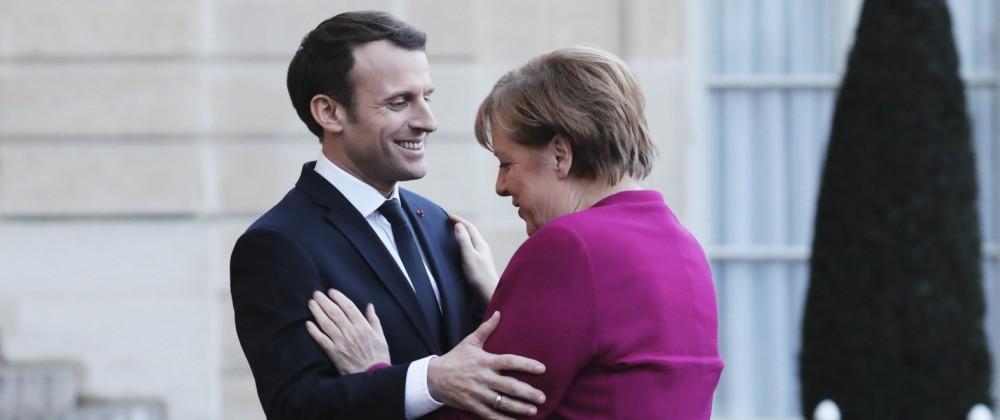 Emanuel Macron und Angela Merkel 2018 in Paris