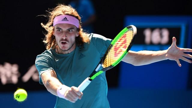 Australian Open Stefanos Tsitsipas bei den Australian Open