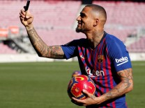 FC Barcelona presents new signing Kevin-Prince Boateng