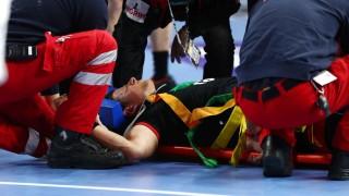 Handball-WM - Martin Strobel verletzt sich beim Spiel gegen Kroatien