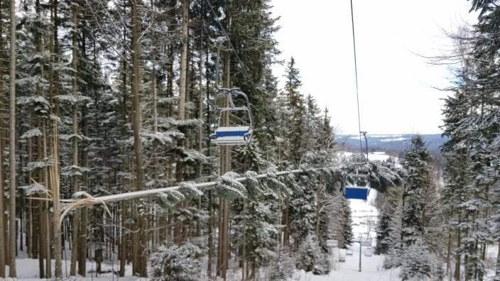 Schäden am Blomberg nach den Schneefällen im Januar 2019