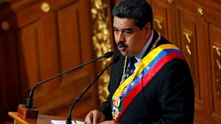 FILE PHOTO: Venezuela's President Nicolas Maduro speaks during a special session of the National Constituent Assembly to present his annual state of the nation in Caracas