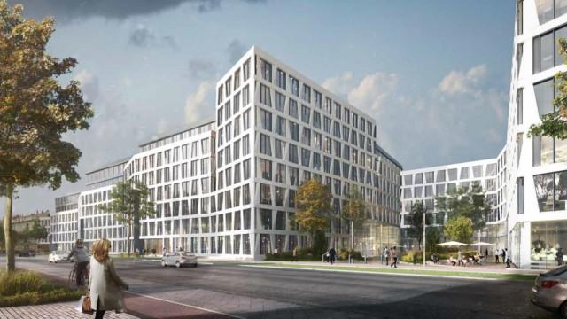 Fertigstellung 2021 angepeilt: So soll es an der Landsberger Straße in ein paar Jahren aussehen. Visualisierung: Jürgen Engel Architekten