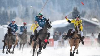 SNOW POLO WC KITZBUEHEL AUSTRIA 20 JAN 19 WINTERSPORTS SNOW POLO World Cup Image shows Eduar