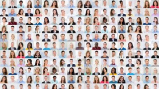 Collage Of A Smiling People model released Symbolfoto PUBLICATIONxINxGERxSUIxAUTxONLY Copyright xAn