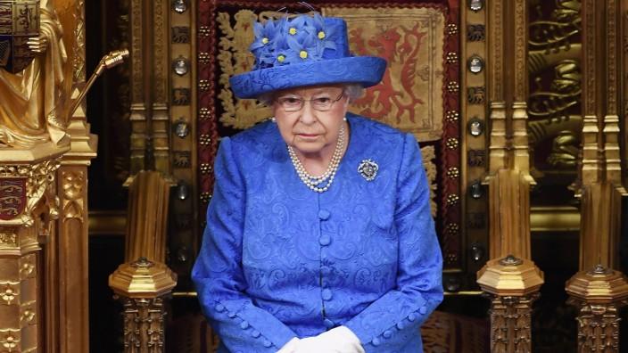 Queen Elisabeth II. bei der Parlamentseröffnung im Juni 2017