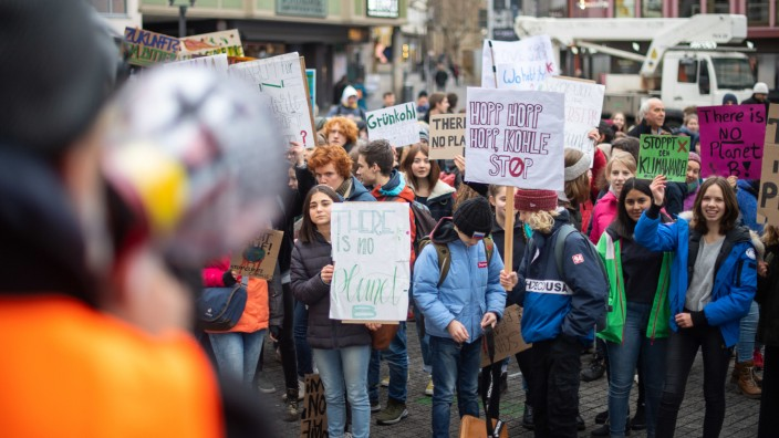 Schüler schwänzen für den Klimaschutz