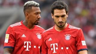 v li Jerome BOATENG Bayern Muenchen Mats HUMMELS Bayern Muenchen Aktion Fussball 1 Bundesliga