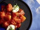 Rezept Kartoffelgulasch Paprika Sauce Sauerrahm vegetarisch