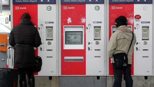 Fahrkartenautomaten der Deutschen Bahn