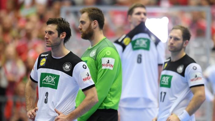 Handball-WM 2019 - Deutsche Spieler nach dem Spiel um Platz 3 gegen Frankreich