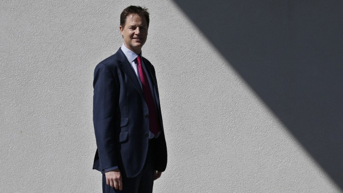 Britain's Deputy Prime Minister and Liberal Democrat Party leader Clegg poses for a portrait at the ages Bowl in Southampton