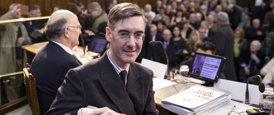 Brexit-Hardliner Jacob Rees-Mogg 2019 in London