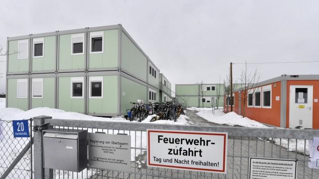 Berg, Container für Asylbewerber