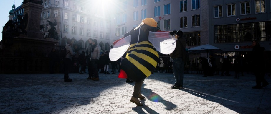 Beginn des Volksbegehrens 'Rettet die Bienen'