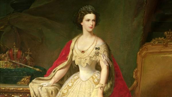 Empress Elizabeth (1837-98) of Bavaria (oil on canvas)