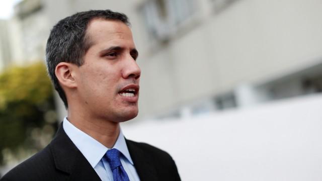 Venezuelas Oppositionsführer Juan Guaido während eines Interviews in Caracas