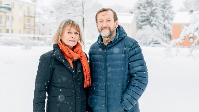 Irene Jazenko und Johannes Thiel am 10. Januar 2019 in der Siedlung Ludwigsfeld.