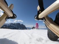 Rodeln auf der Seiser Alm in Südtirol