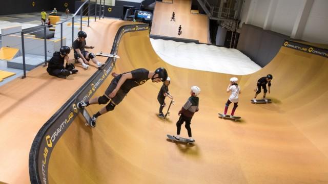 "Actionsporthalle ""Gravity Lab"" in München, 2017"