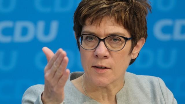 CDU-Chefin Annegret Kramp-Karrenbauer 2019 in Berlin
