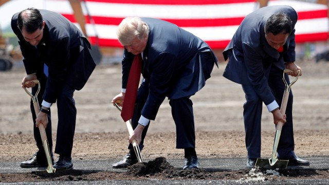 FILE PHOTO: Trump visits Foxconn in Wisconsin