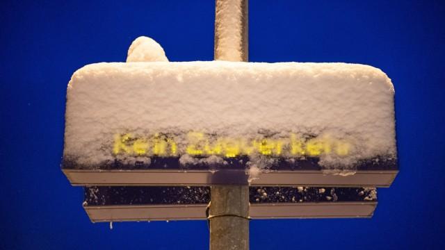 Winter in Bayern Schnee Bahn