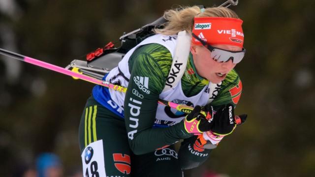 Biathlon-Weltcup Ruhpolding - Massenstart Frauen