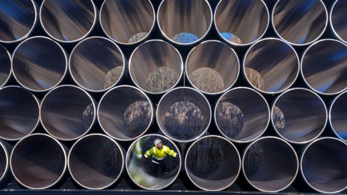 Rohre für die Pipeline Nord Stream 2