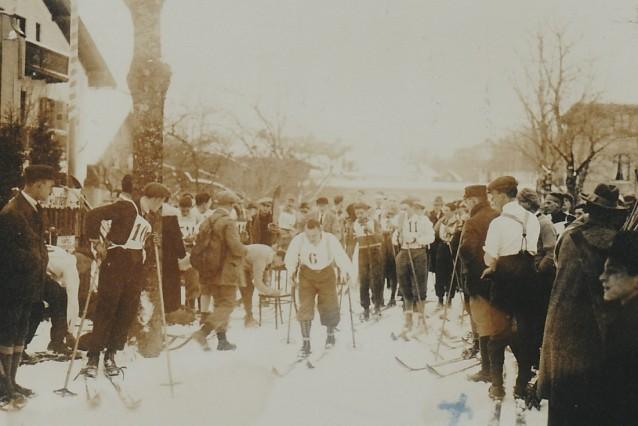 Skirennen in Icking 1923