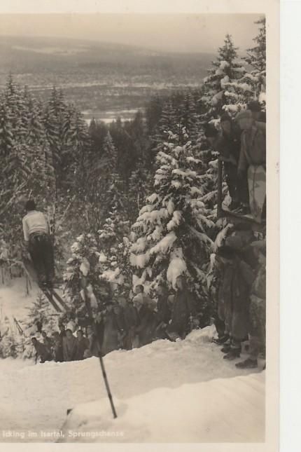 Postkarte Skispringen in Icking 11.3.1934