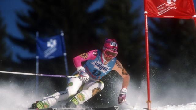 Alpine Ski WM in Saalbach Hinterglemm Riesenslalom der Damen Michaela Gerg Deutschland
