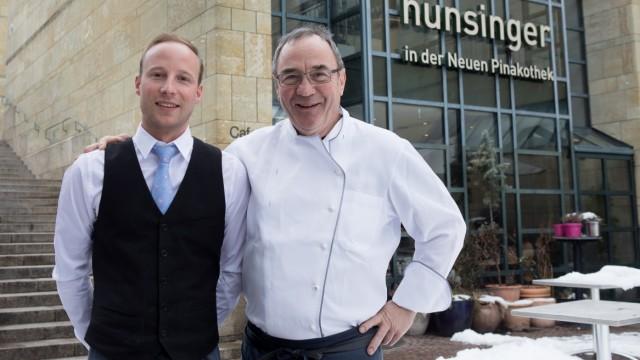 Werner und Marc (sein Sohn) Hunsinger, Restaurant in der Neuen Pinakothek