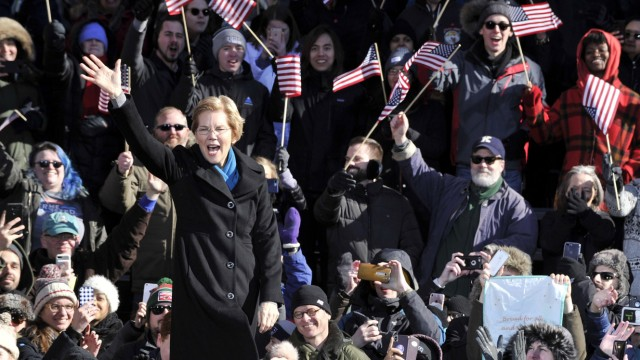 US presidential hopeful Elizabeth Warren kicks off seven state tour