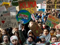 FILE PHOTO: German students on a climate change protest in front of the Berlin venue for a session of the country's Coal Commission