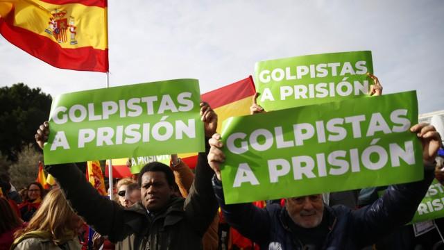 Katalonien, Separatisten, Proteste in Madrid