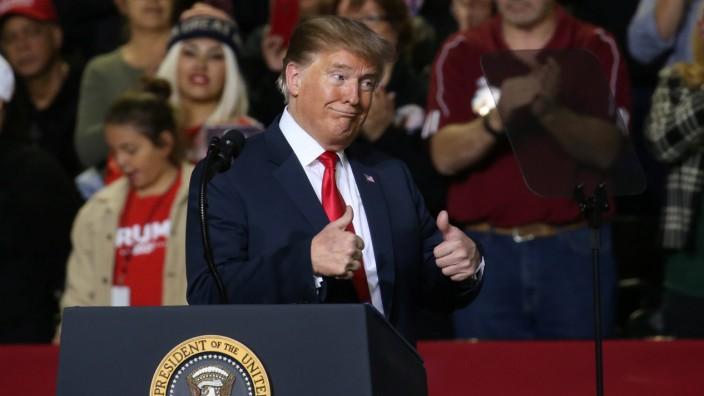 Donald Trump 2019 bei einer Rede in El Paso