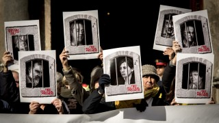 Kundgebung für Separatisten in Spanien
