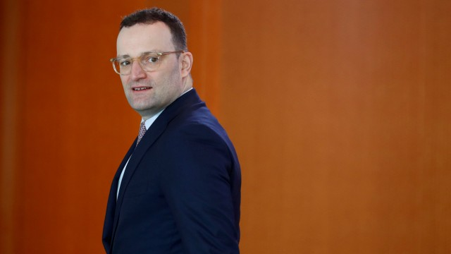 German Health Minister Jens Spahn arrives to the weekly cabinet meeting in Berlin