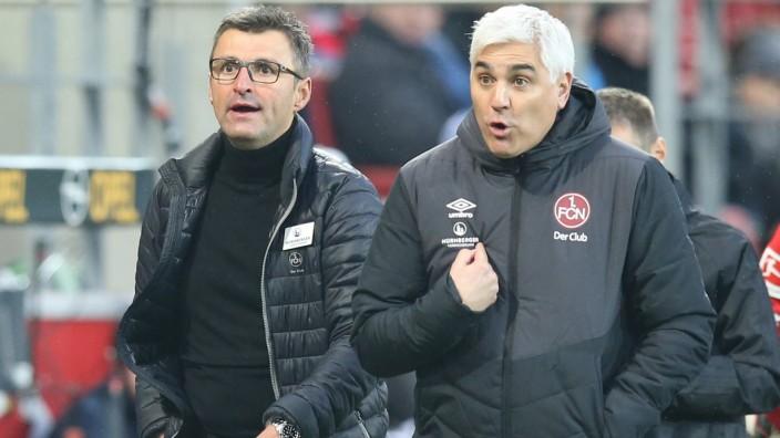 FCN - Sportvorstand Bornemann und Trainer Köllner vom 1. FC Nürnberg