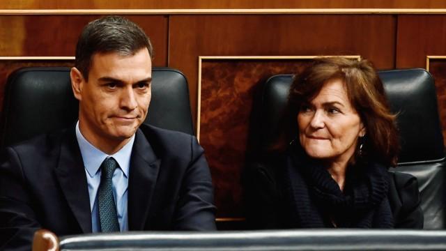 Spanien - Ministerpräsident Pedro Sanchez bei einer Sitzung im spanischen Parlament